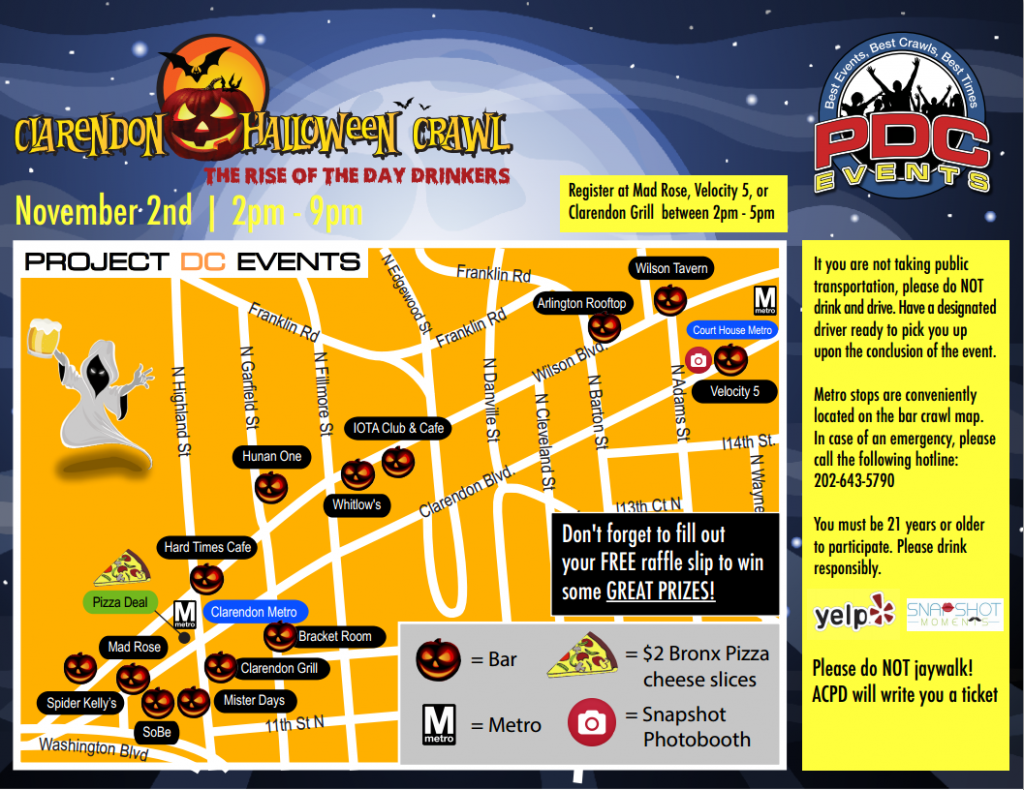 Clarendon Halloween Crawl - November 2nd in Arlington