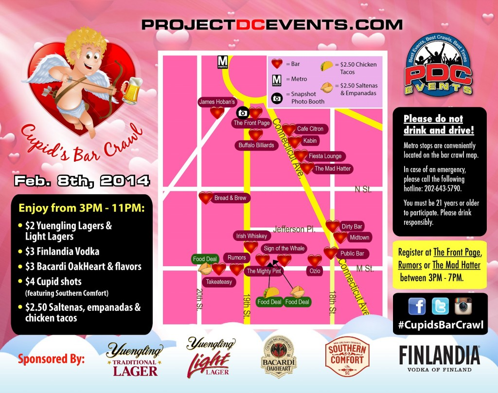 Cupid's Bar Crawl 2014 | Project DC Events