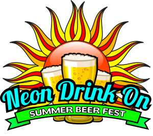 Neon Drink On Summer Beer Festival