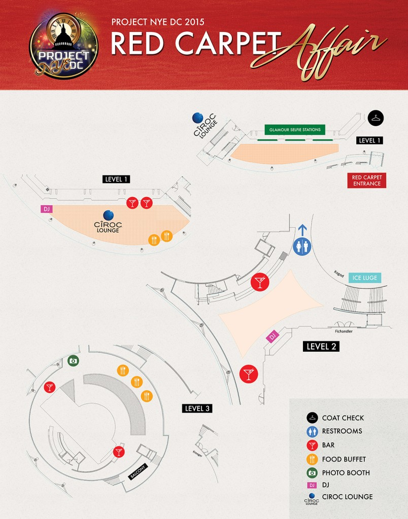 A Red Carpet Affair DC map