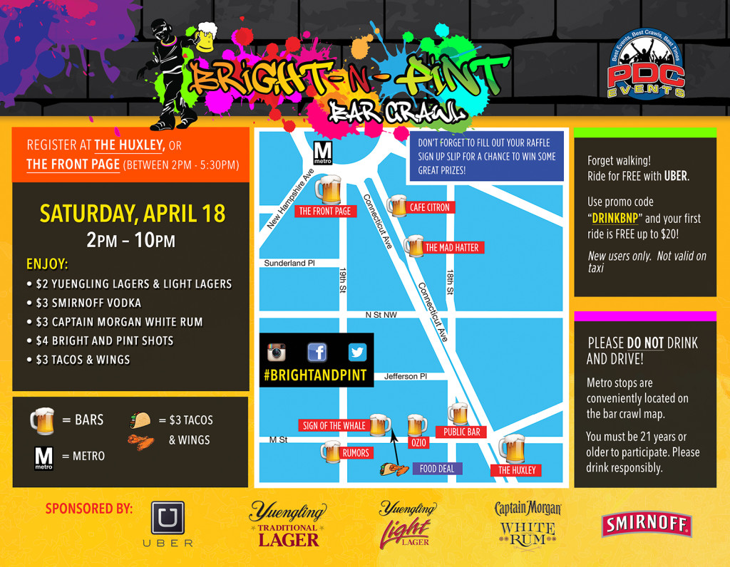 Bright-N-Pint Bar Crawl 2015
