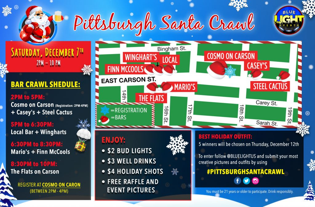 Pittsburgh Santa Crawl